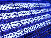 Abstract blue industrial grid,industry lighting, Stock Photography