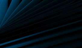 Abstract Blue Industrial Plates. On Dark Black background Royalty Free Stock Photography