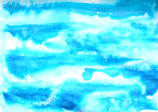 Abstract blue ink painting on grunge paper texture. Hand painted watercolor background.  wash. Illustration stain and. Abstract blue ink painting on grunge paper Stock Photo