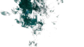 Abstract blue Ink or smoke background with alpha mask. VFX Cloud of Ink for transitions, background, overlay and effects stock video footage