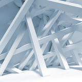 Abstract blue interior background. Chaotic beams Royalty Free Stock Photos