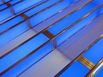 Abstract blue interior construction, Royalty Free Stock Photo