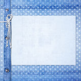 Abstract blue jeans background Stock Photography