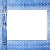 Abstract blue jeans background Stock Image
