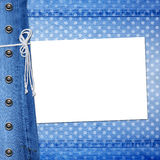 Abstract blue jeans background with rivet Stock Images