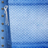 Abstract blue jeans background with rivet Royalty Free Stock Photo