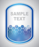 Abstract blue laboratory label Stock Photo