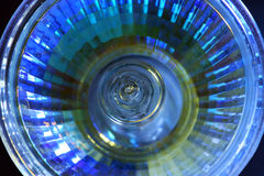 Abstract of blue lamp. Close-up of blue lamp Stock Image