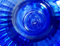 Abstract of blue lamp Stock Image