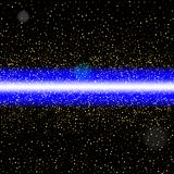 Abstract blue laser beam. Isolated on black background. Vector i. Llustration, eps 10 Stock Photos