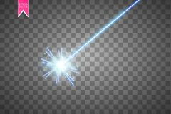 Abstract blue laser beam. Isolated on transparent black background. Vector illustration,. Eps 10 Stock Photo