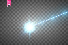 Abstract blue laser beam. Laser security beam isolated on transparent background. Light ray with glow target flash. Vector illustration. Eps 10 Royalty Free Stock Photos