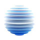Abstract blue layer sphere isolated Royalty Free Stock Photography