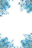 Abstract blue leaf. Blank with blue leaf on white background Royalty Free Stock Photography