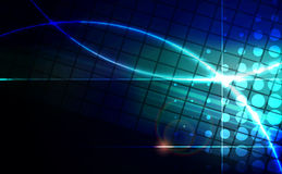 Abstract blue lens flare technology  background. Vector illustration Stock Images