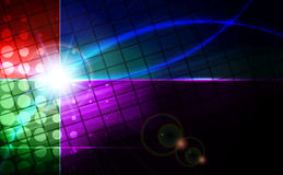 Abstract blue lens flare technology  background. Vector illustration Royalty Free Stock Images