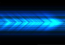 Abstract blue light arrow speed technology direction on black design modern futuristic background vector. Illustration royalty free illustration