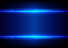 Abstract blue light with arrow technology background. illustrati Stock Images