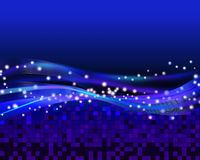 Abstract Blue Light. Blue abstract background illustration Stock Images