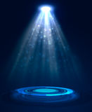Abstract blue light background Royalty Free Stock Image