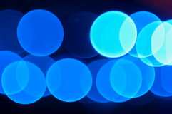 Abstract Blue Light Bokeh. The abstract background of defocus blue light bokeh Royalty Free Stock Images