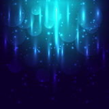 Abstract blue light and bokeh glowing background. Stock vector stock illustration