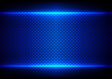 Abstract blue light concept with dot pattern background.illustra Royalty Free Stock Image