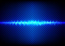 Abstract blue light concept with wave and dot pattern background Stock Image