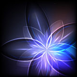 Abstract blue light flower Royalty Free Stock Images