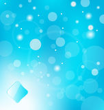 Abstract blue light with label background Stock Photo
