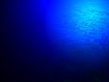 Abstract blue light over desert, science, Royalty Free Stock Photo