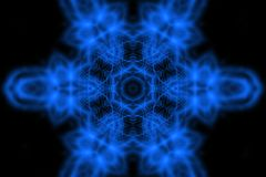 Abstract blue light pattern on black. Bright abstract blue light pattern on black background Royalty Free Stock Image