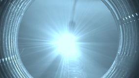 Abstract, Blue Light With Rays. Spooky, Blue Light With Rays Rotating stock video