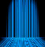 Abstract blue light sabres. Abstract blue light rays striped wall background stock illustration