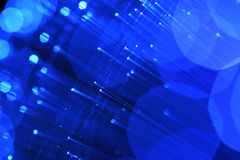 Abstract blue  light source Stock Photography