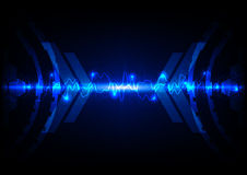 Abstract blue light technology c Stock Photography