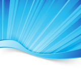 Abstract blue light wave border background. Dynamic smooth layout. Vector illustration Royalty Free Stock Photo