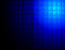 Abstract blue lighting over glass wall, Stock Images