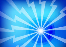 Abstract Blue Lightning Background Stock Image