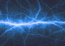 Abstract blue lightning Stock Photos