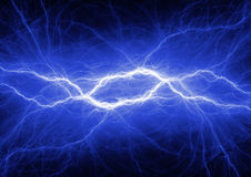 Abstract blue lightning Royalty Free Stock Images