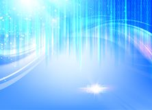 Abstract blue lights background. Royalty Free Stock Images