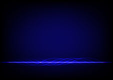 Abstract blue line design on blue blackground Stock Photography
