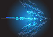 Abstract blue line light arrow circuit futuristic technology network internet graphic design background vector. vector illustration