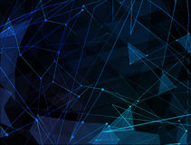 Abstract blue line network background. Technology Royalty Free Stock Photos