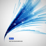 Abstract blue lines curve circle swirl technology with sparkling. Light vector illustration element copy space Royalty Free Stock Photo