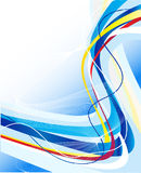 Abstract blue lines template Stock Photography