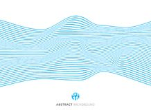 Abstract blue lines wave pattern on white background. Vector illustration Royalty Free Stock Image