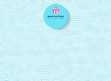 Abstract blue lines wave, Wavy stripes pattern, Rough surface. Vector Illustration Stock Image