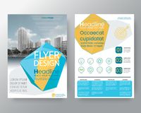 Abstract blue low polygon Brochure annual report cover Flyer Poster design Layout vector template in A4 size vector illustration